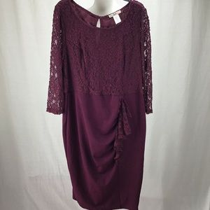 Love Squared Lace Cocktail Formal Dress Plus 1X